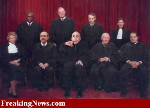 Group photo of Chief Justice Myers and the Justices of the Supreme Court of the United States