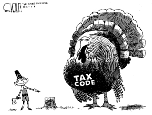 Turkey tax code cartoon